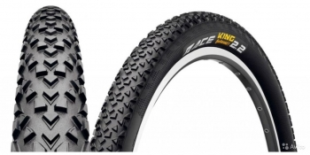 Continental race king 26 x 2.2, чёрная, борт-кевлар