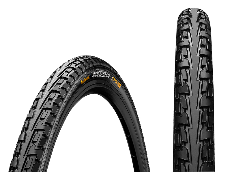 Велосипедная покрышка Покрышка Continental RIDE Tour, 26 x 1 1/2 x 2, (54-584), чёр./чёр., Extra Puncture Belt