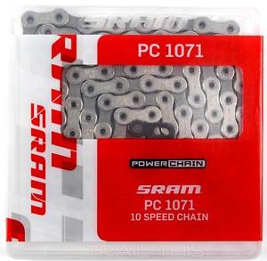Велосипедная цепь  10v sram pc-1071 hollow pin + powerlock 10sp.